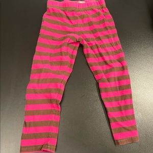 Pink and brown striped 2T pants